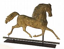 WEATHERVANE - Molded Copper Black Hawk Running Horse Weathervane, attributed to A