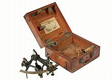 HALF-SCALE BOXED SEXTANT - English Mariner's Sextant by John Dennett Potter, London, active 1851-82 at the Poultry St address found on