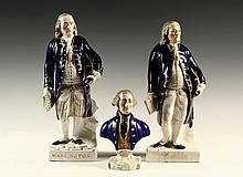 (3) STAFFORDSHIRE FIGURES - 19th c
