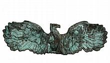 ARCHITECTURAL EAGLE SCULPTURE - Late 19th c. Monumental Spreadwing Eagle in Verdigris Copper, an element purportedly removed from a New