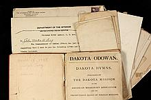 LOT OF NATIVE AMERICAN DOCUMENTS & BOOK - Letters addressed to Mr