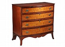 BOWFRONT CHEST OF DRAWERS - 19th c