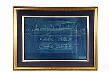 TITANIC BLUEPRINT DRAWING - Marconi Radio Blue Print for