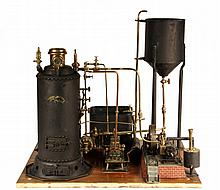 RARE STEAM POWER PLANT MODEL - An Early Historic and Extremely Rare Steam Power Plant Model, built by 'C.F. Dauxdater, Leiheighton, PA