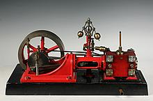 MODEL OF STEAM ENGINE - An extremely well-machined exhibition quality Corliss steam engine model, mid-20th c, from castings by Cole, wi