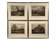 SET OF (4) ENGLISH FOX HUNTING PRINTS -