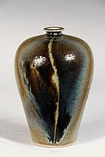 BROTHER THOMAS ART POTTERY - Vase by Brother Thomas Bezanson (1929-2007), Benedictine Monk of the Weston, VT Priory: Tapered Tall Shoul