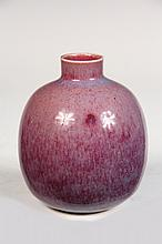 BROTHER THOMAS ART POTTERY - Vase by Brother Thomas Bezanson (1929-2007), Benedictine Monk of the Weston, VT Priory: Ovoid Shouldered F
