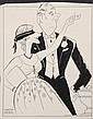 PEN & INK ILLUSTRATION - Caricature by George Wachsteter (1911-2004) for the 1956 Lindsay-Crouse Broadway Comedy 'The Great Sebastians