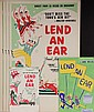 BROADWAY POSTERS & SKETCH - Design by George Wachsteter (1911-2004) for smash Broadway musical comedy revue 'Lend an Ear', starring Y