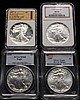 (4) COINS - (4) American Eagles, (1) 2009, (1) 1999, (1) 1994, (1) 1987-S