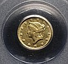 COIN - 1853-C $1.00 Gold, scarce Charlotte mint, PCGS AU 53.