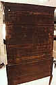 HIGHBOY - 18th c. American Two-part Queen Anne Mahogany Flat Top Highboy. 72