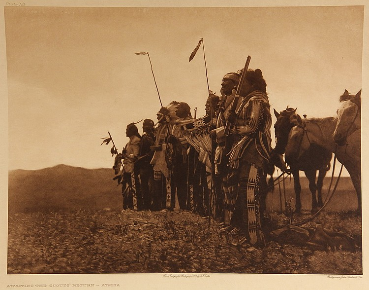 EDWARD SHERIFF CURTIS (WA/CA/WI, 1868-1952); Group of (6) Large Folio Photogravures, including: