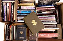 LIFETIME COLLECTION OF BOOKS ON NATIVE AMERICAN HISTORY AND CULTURE - (9) Boxes, approx (220) titles, about half hardbound, including many 'coffee table', some more academic, many general education, a few early govern.