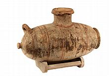 BRONZE AGE VESSEL - Unusual Greek Cypriot Olive Oil Transport Pottery Vessel, Early Classical Period, 6th-5th c