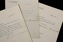 (5) LETTERS FROM THEODORE ROOSEVELT, (1) WILLIAM LOEB, (2) EDITH KERMIT ROOSEVELT - All to Dr