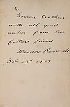 THEODORE ROOSEVELT PRESENTATION COPY OF BOOK -