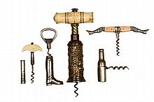 CORKSCREWS - Collection of (5) early corkscrews.