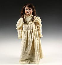 LARGE ANTIQUE BISQUE HEAD DOLL - 28