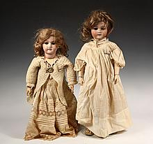(2) ANTIQUE BISQUE HEAD DOLLS - Including: 24