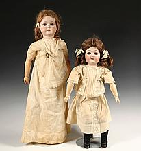 (2) ANTIQUE BISQUE HEAD DOLLS - Including: 26