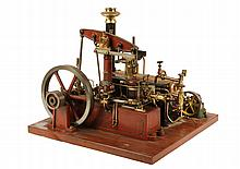 MODEL STEAM ENGINE - Stuart Model of Watts Double-Action Beam Engine with 7