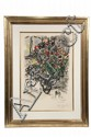 COLOR LITHOGRAPH - 'Le Bouquet Rouge' by Marc Chagall (Russia/France, 1887-1985), artist's proof 15/25, pencil numbered and signed,