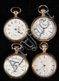 (4) POCKETWATCHES - Group of (4) man's antique open face pocketwatches.