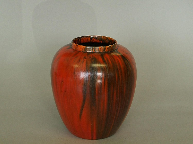 Richards Ricardia ware art pottery vase of ovoid
