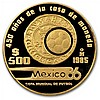 Mexico 1985 or 1986 500 Pesos Gold Coin (Proof) - L31717