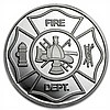 1 oz Firefighter's Prayer Silver Round (w/Gift Box & Capsule) - L26035