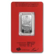 10 gram Pamp Suisse Silver Bar - Year of the Dragon (In Assay) - L32292