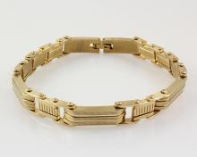 Mens 8.50 Yellow Ion Plated Gold Stainless Steel Bracelet - L32937