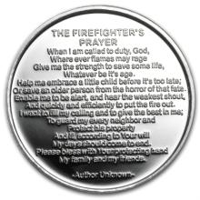 1 oz Firefighter's Prayer Silver Round - Plain (w/Gift Box & Cap) - L27843