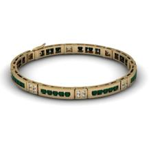 Black Diamond 2.96 ctw& Diamond Bracelet14kt W OR Y Gold - L11888
