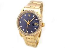 34mm Rolex 14K Yellow Gold Oyster Perpetual Date Watch - L29668