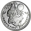 2014 1 oz Baby's First Birthday Silver Round (w/Box & Capsule) - L29184