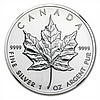 1993 1 oz Silver Canadian Maple Leaf MS-68 NGC - L28559