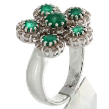 14K White Gold 1.76ctw Emerald & Diamond Ring - L32816