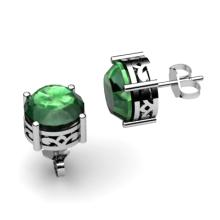 Emerald 2.50ctw Earring 14kt White Gold - L11183
