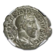 Roman Silver Denarius of Maximinus I (235-238AD) NGC XF - L29281