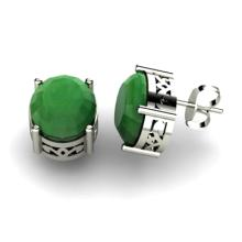Emerald 5.20ctw Earring 14kt White Gold - L11132
