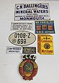 Lot of 8 tin advertising signs