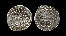 English Medieval Coins - John - Kings Lynn / Nicole - Short Cross Penny