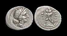Ancient Roman Imperial Coins - Julius Caesar - Aeneas Walking Denarius