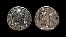 Ancient Roman Republican Coins - Caius Egnatius Cnaei Filius Cnaei Nepos Maxsumus - Roma and Venus Denarius