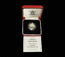 English Milled Coins - Elizabeth II - 1999 Scotland - Royal Mint Proof Silver Piedfort 1 Pound
