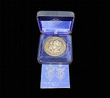 British Commemorative Medals - Elizabeth II - 1972 Royal Anniversary - John Pinches Hallmarked Silver Medal