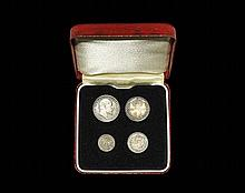 English Milled Coins - Edward VII - 1906 - Cased Silver Maundy Set